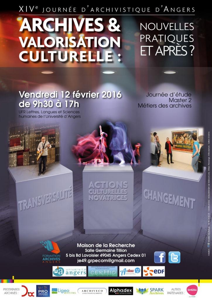 Journee d'etude archivistique Angers 2016